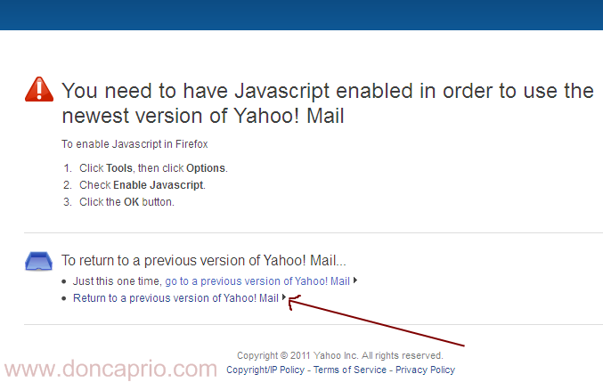 how to change back to classic yahoo mail