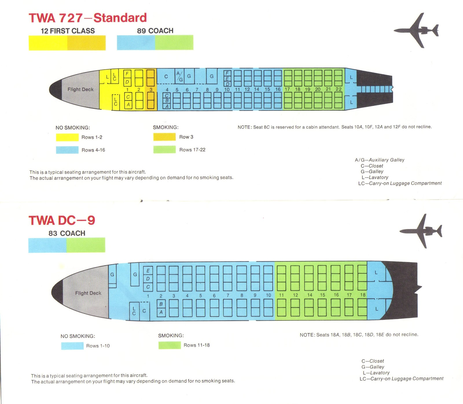 Vintage Airline Seat Map: USAir DC-9-30 - Frequently Flying
