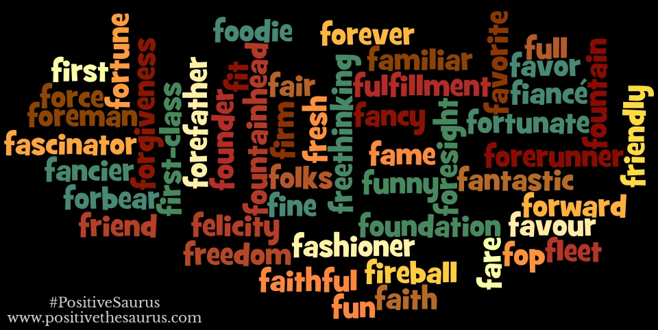 positive nouns that start with f