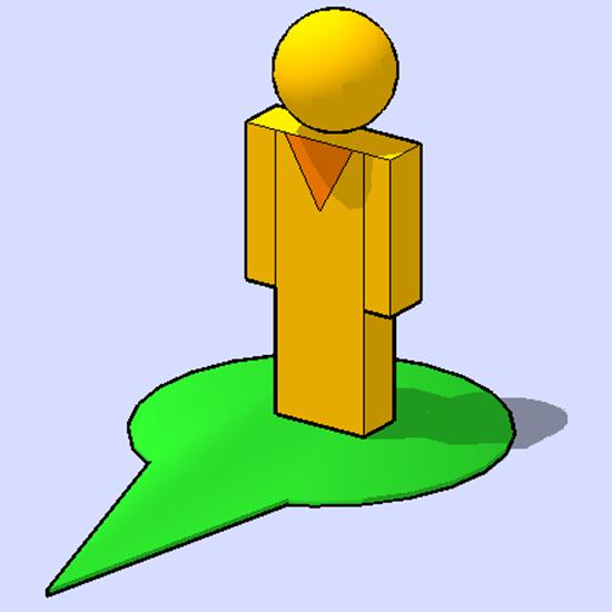 petit homme jaune de google street view