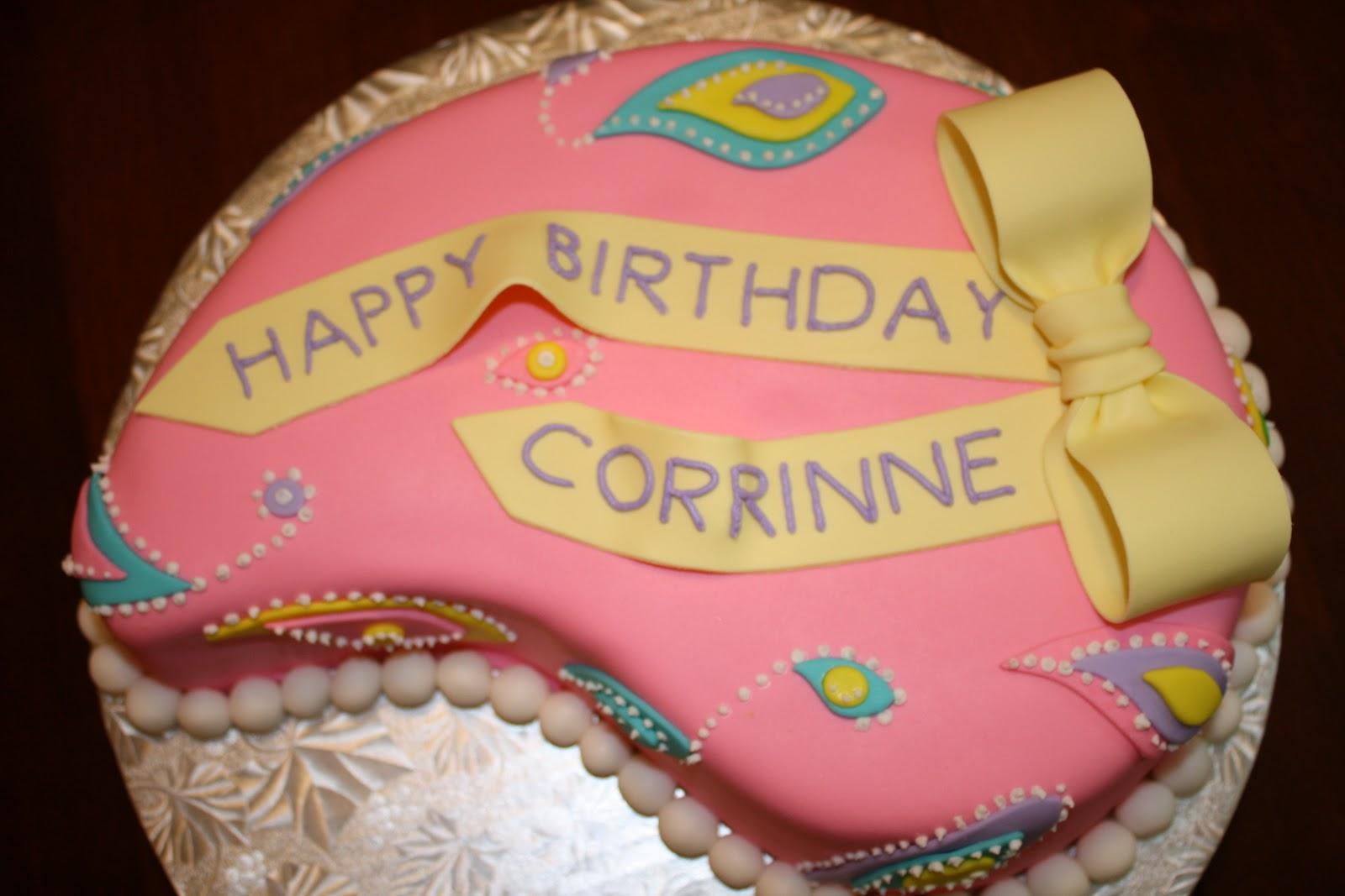 CC's Cake Decorating: Paisley Cake