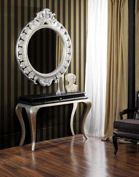Artesare muebles pintados y decorados artesanalmente - Muebles pintados en plata ...