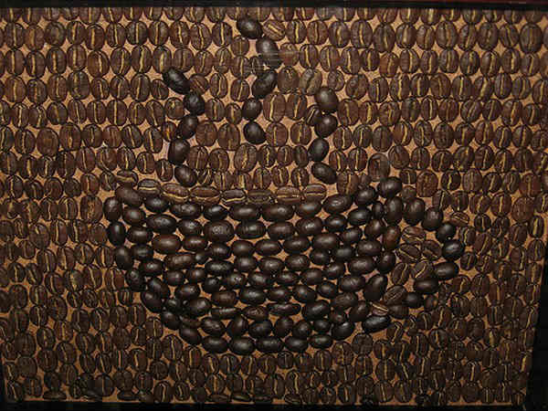 Amazing Coffee Bean Art