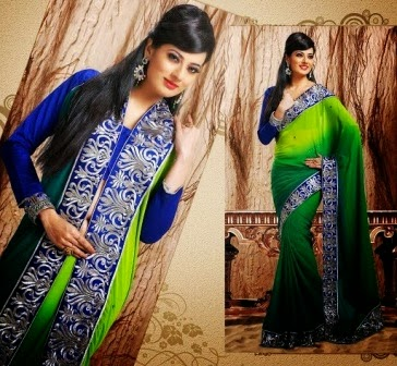Embroidered Silk Indian Sarees