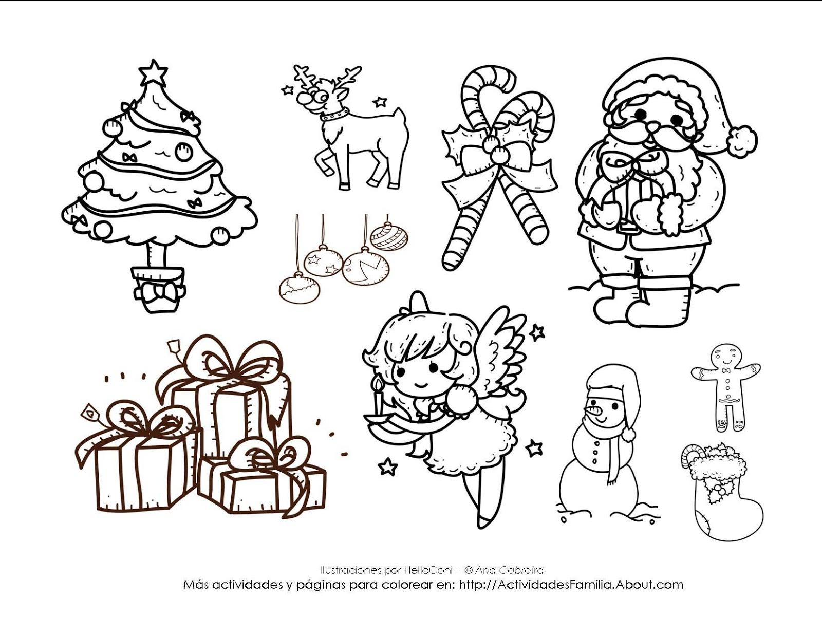 Ciclo Escolar: La Navidad - Dibujos para Colorear