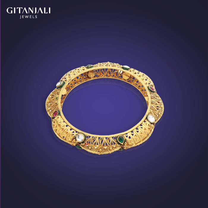 Indian Jewellery Designs: Antique gold bangle designs