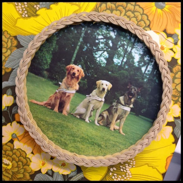Kitsch vintage guide dog tray