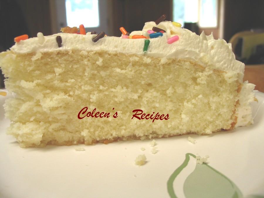 Coleens Recipes CLASSIC MOIST YELLOW CAKE