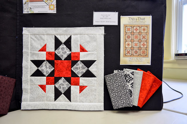 Paris in the Fall  (66''-x-86'') Style: Black, White & Red | First Block: $5 | Pattern: $22.99