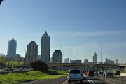 Atlanta Skyline. I loved the shapes of some of these buildings!