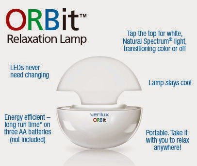 lamp, light, ORBit, relaxation, verilux,