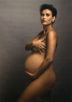 Demi Moore's Pregnancy Pose by Annie Leibovitz