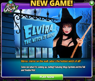 Elvira the Witch is Back is a new slots game at Hit It Rich