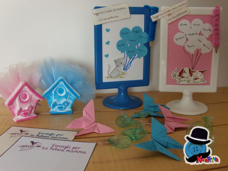 tutorial e template per organizzare un baby shower creativo