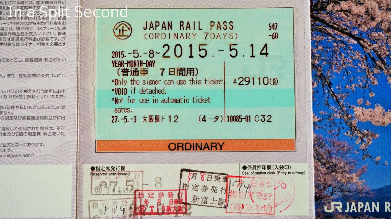 In A Split Second Trains And Railway Systems We Used Japan Voucher Keihan Kyoto Osaka Sightseeing Pass 1 Day Jr