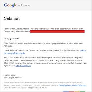 Contoh Email Full Approved Dari Google Adsense