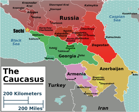 Tamerlanes Thoughts Sochi On A Map - Sochi map