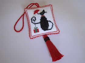 Christmas Cat Scissor Fob