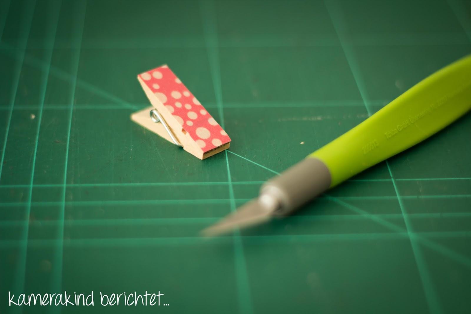 Das Washi Tape lässt sich sehr gut mit einem scharfen Messer kürzen.