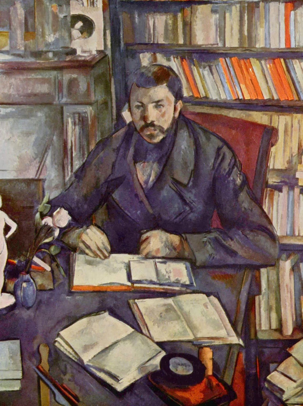 "Picture of ""Portrait of Gustave Geffroy"" by Paul Cezanne, 1895"