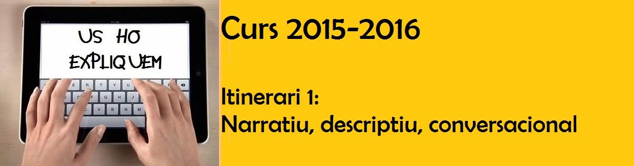 Projecte Us ho expliquem 2015-2016 (Grup taronja)