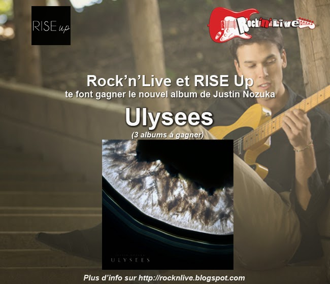Justin Nozuka Ulysees Concours Pop Rock Rock'n'Live 2014 Agence RISE up Charles Clément