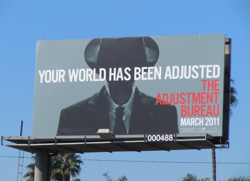 Adjustment Bureau film billboard