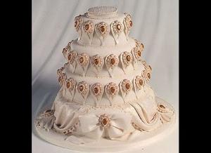 Romantic Wedding Cake Bejeweled Elegance