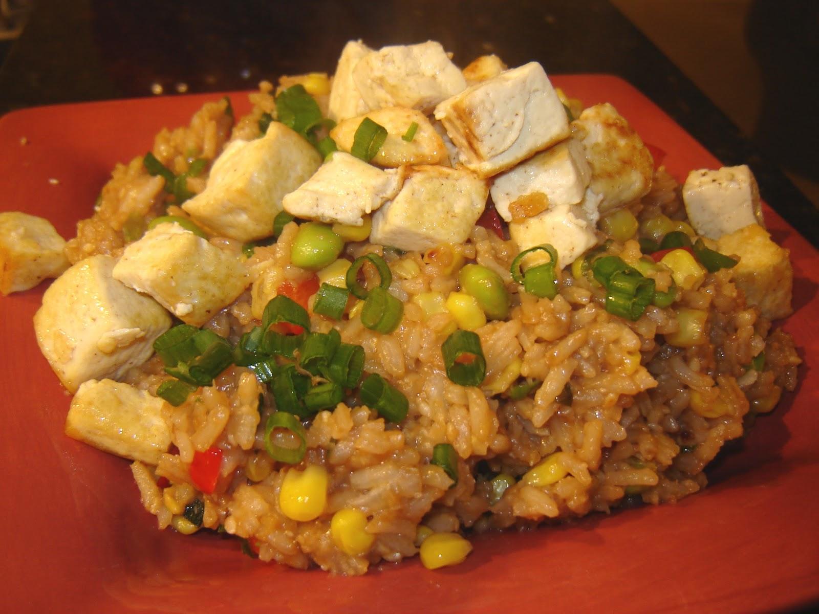 Dinner is Vegan: Veggie Fried Rice with Tofu
