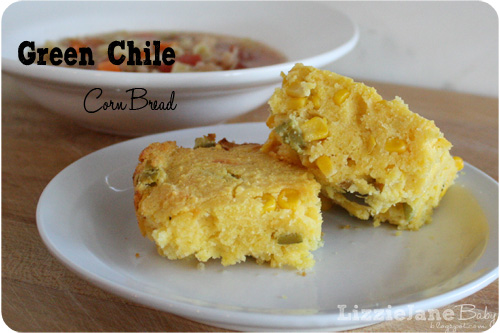Green Chile Corn Bread by Lizzie Baby .
