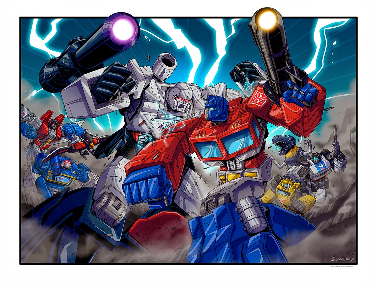 New York Comic Con 2014 Exclusive Transformers Print by Marcelo Matere