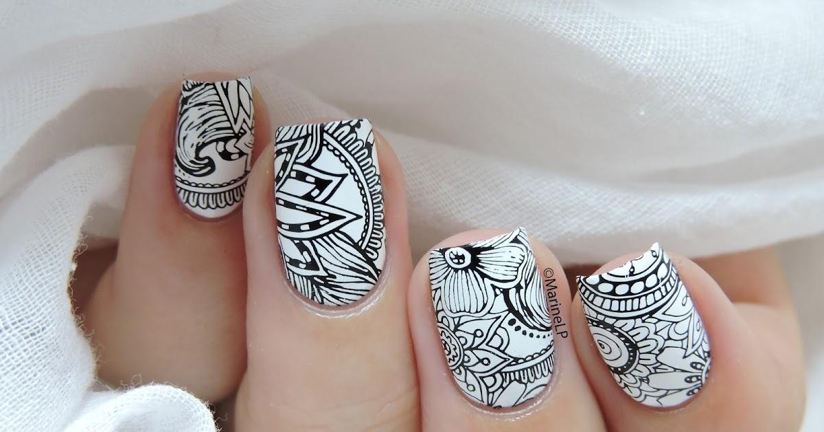 Nailstorming - En noir et blanc | Ongles scintillants, Art