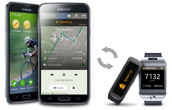 Samsung Galaxy S5 S Health Apps