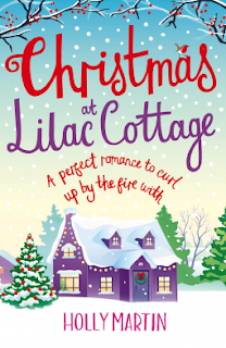 Book cover:Christmas at lilac Cottage by Holly Martin