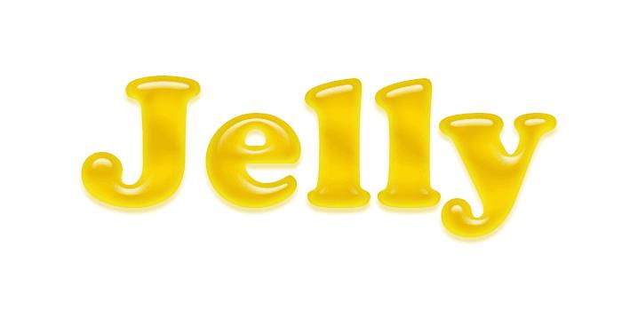 efek teks jelly