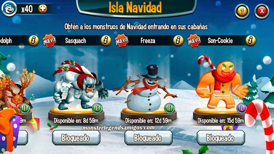imagen de las ultimas guaridas de la isla navidad de monster legends