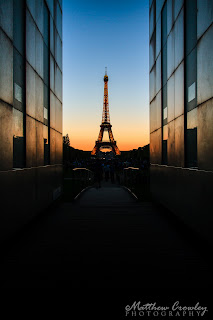 The Eiffel Tower at Blue Hour