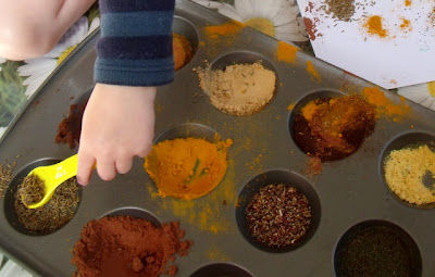 Spice Painting Sensory Activity