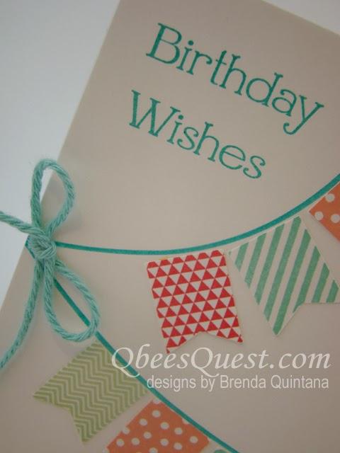Minute Mondays Banner Blast Birthday Card