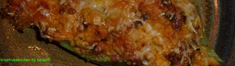 Kreatives kochen vegetarisch gef llte zucchini for Kochen zucchini