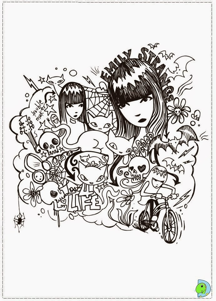 emily strange coloring pages - photo#3