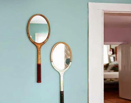 Cermin indah dari raket bekas