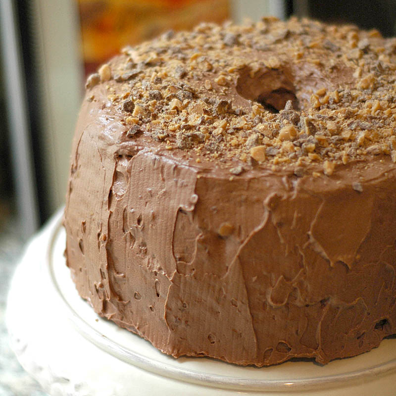 Chocolate Toffee Chiffon Cake