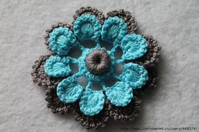 Flor Rusa a Crochet