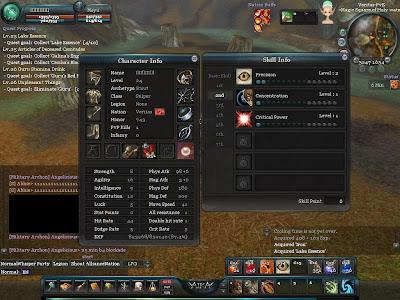 Aika - Character Attributes and Skills 1