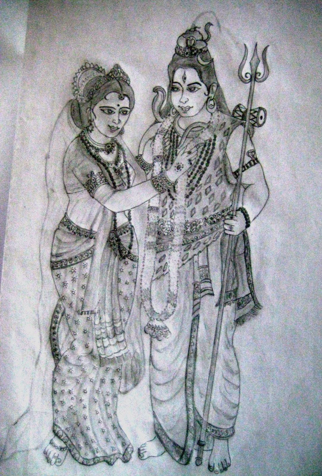 Lord shiva parvathi amman marriage