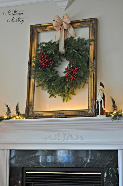 Northern Nesting 2012 Christmas Mantel And Family Room Tree
