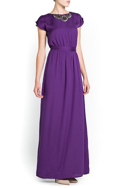 embellished neckline gown