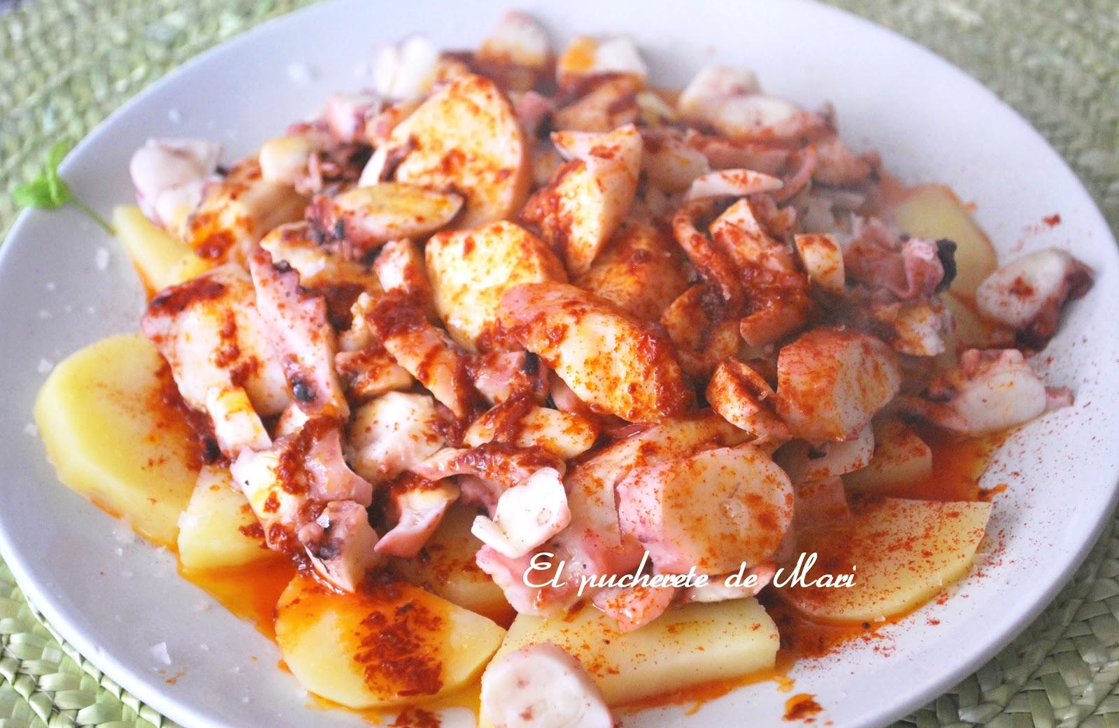 El pucherete de mari rejo con patatas y ali o de pimiento for Se puede cocer el pulpo congelado