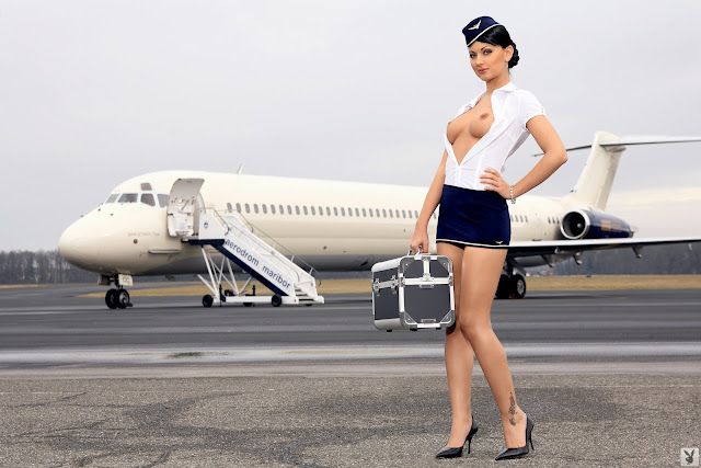 Andreja Karba Flying Naked in the Airplane